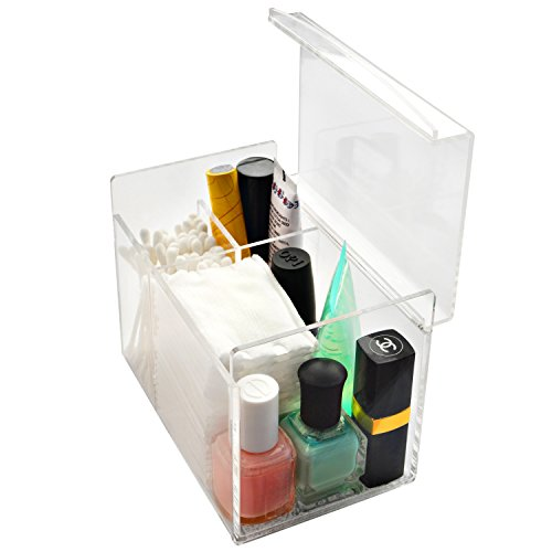 Deluxe Clear Acrylic Multi Purpose Makeup Case Jewelry Organizer