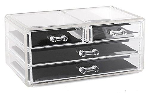 Estilo 100 Pure Acrylic Cosmetic and Jewelry Organizer Storage